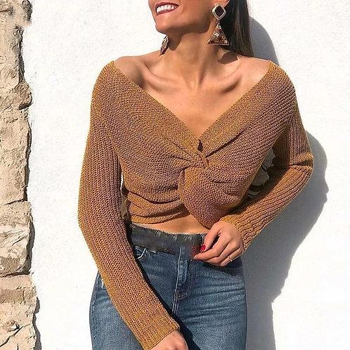 Alona Sexy V-Neck Sweater