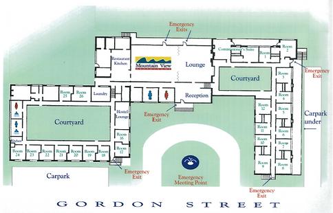 Chalet accommodation plan