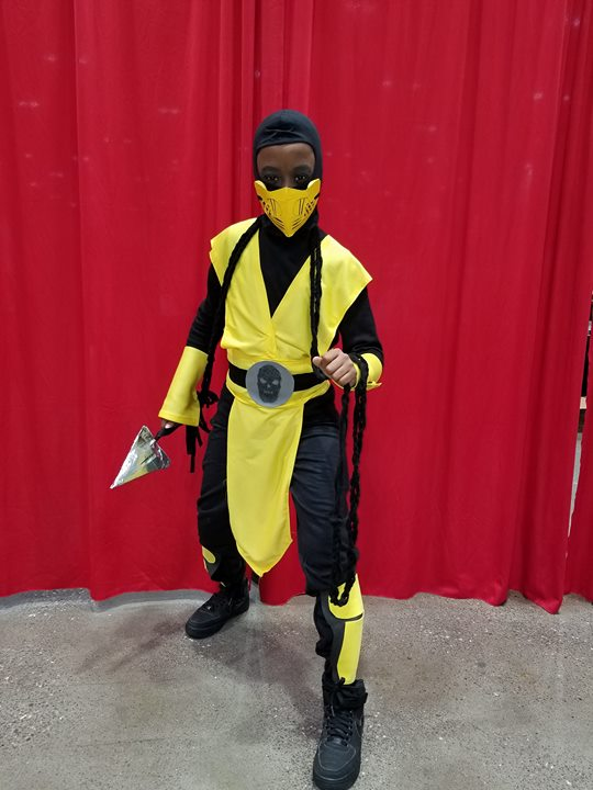 The Kid, as Scorpion from MK