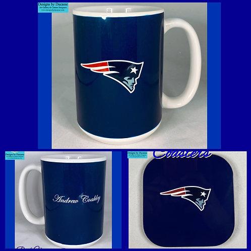 Personalized New England Patriots Mug Set