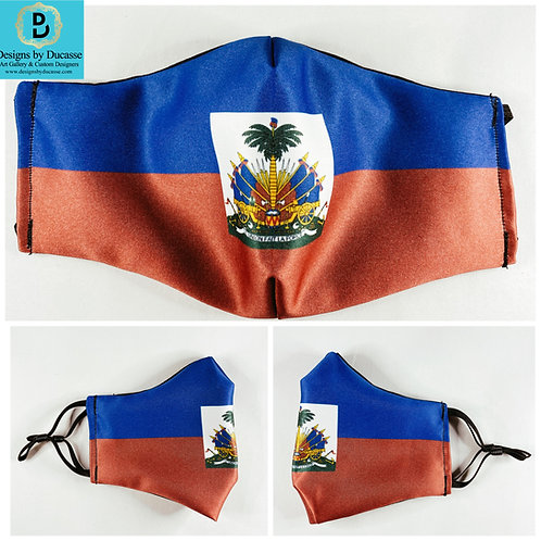 Haitian Flag Face Mask