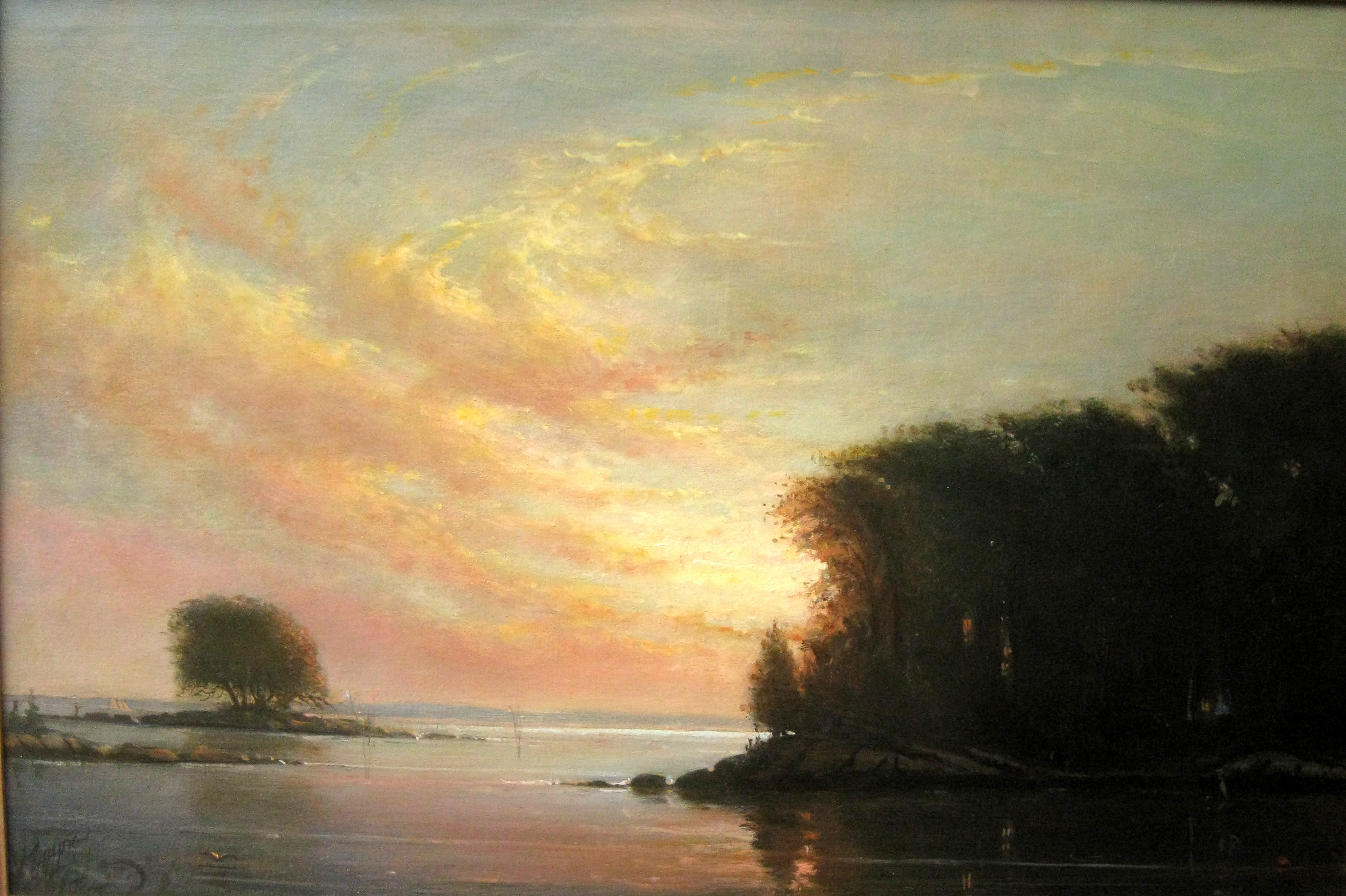 Fish Island Sunset, Darien - 24x36