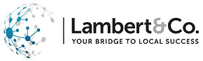 Logo for Lambert & Co showing a global network of interconnected nodes
