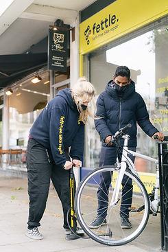 Bike repair and tyre pumping
