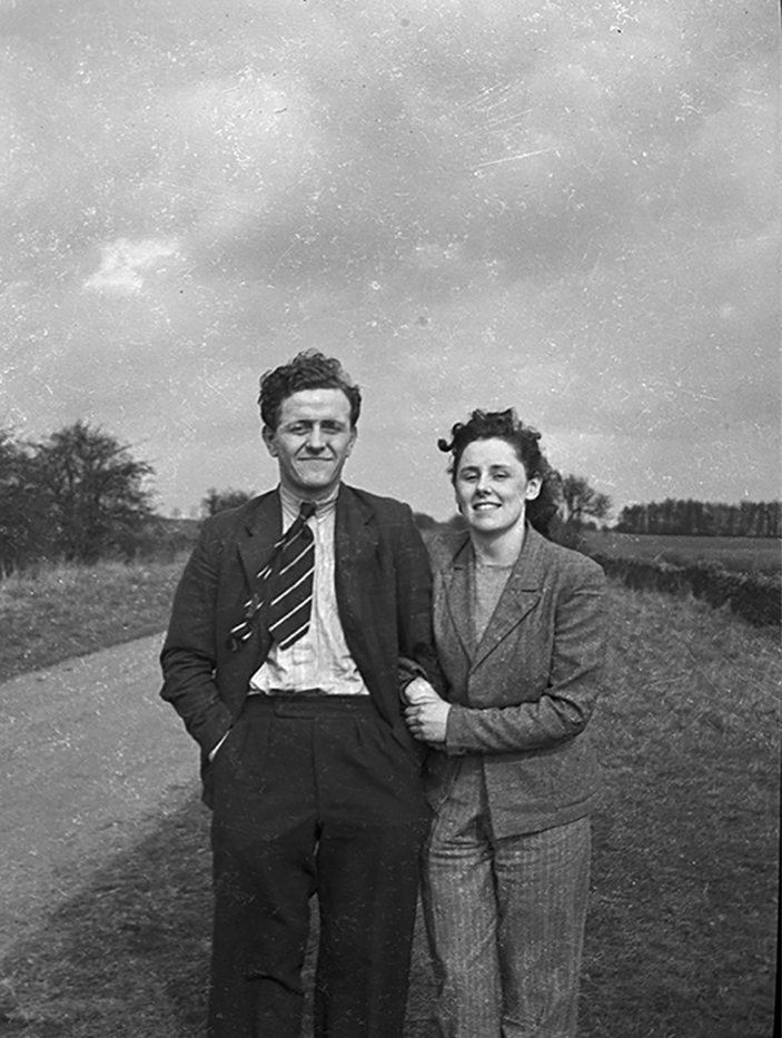 Young Couple taking a stroll in 1947