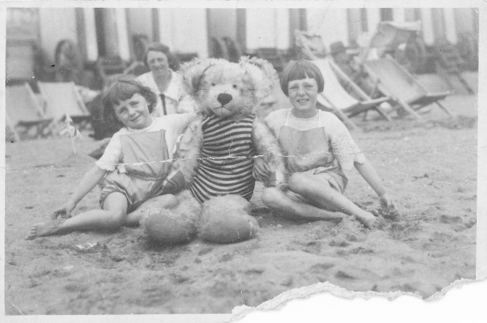 Badly damaged and faded photo 1928