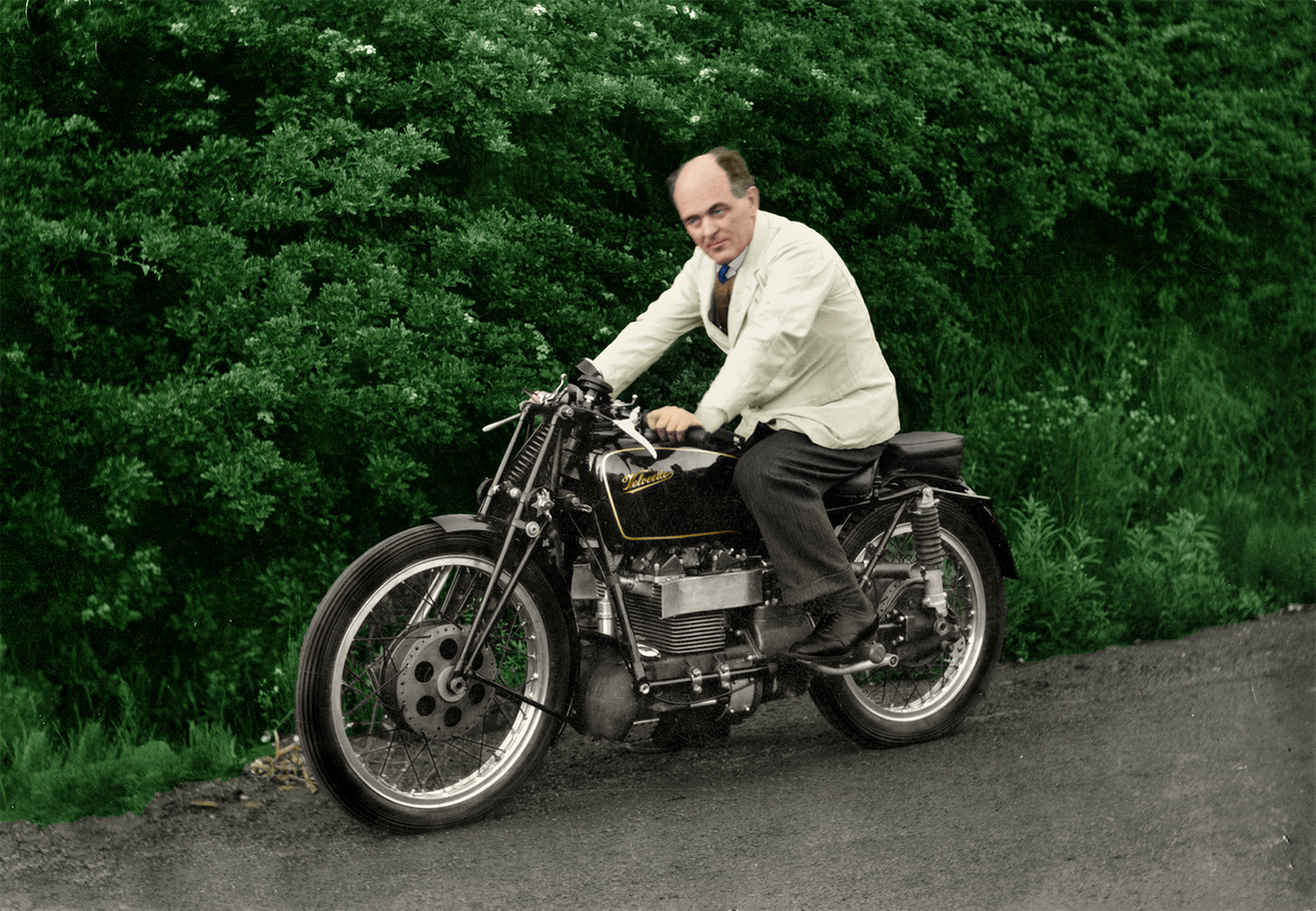 Velocette Roarer with Percy Goodman 1939