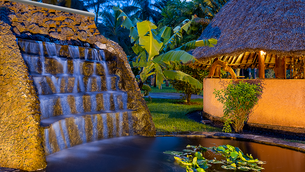 Waterfall at Sunset Villa