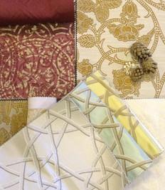 Ткани Rubelli, образцы в салоне Pitti