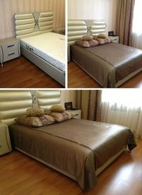 Покрывало и подушки в спальню
