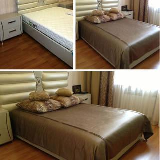 Выполненный заказ: покрывало и подушки
