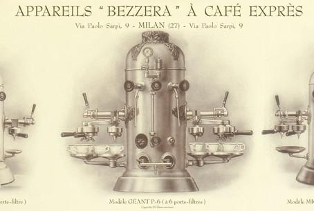 Изобретение кофемашины Luigi Bezzera