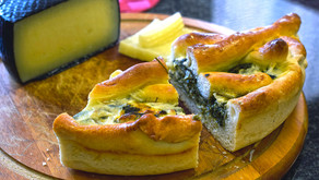 Монтрё и пирог со шпинатом