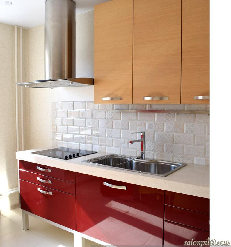 Кухня Seta от фабрики GDArredamenti после установки в квартире клиента, март 2019 г.