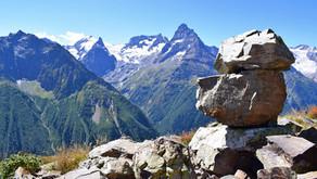 В горах Домбая: Вершина Мусса-Ачитара. Часть 7