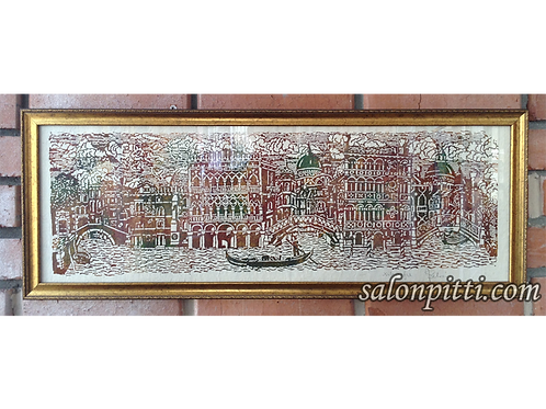 """""""Панорама Венеции"""" ксилография (Il Pavone, Италия)"""