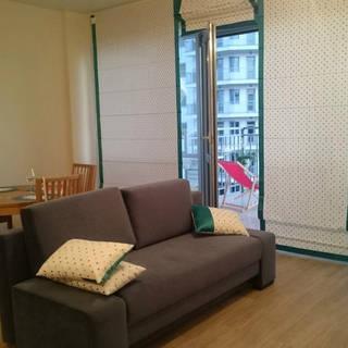 Выполненный заказ: подушки и римские шторыв гостиную, г.Сочи