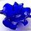 Thumbnail: Ваза муранское стекло синяя диаметр 22см SOVET (Италия)