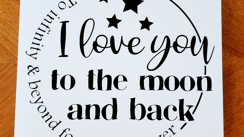 Customized I Love You to the Moon and Back