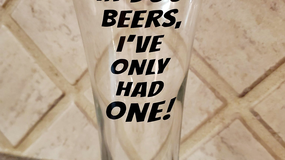 In Dog Beers - Beer Glass