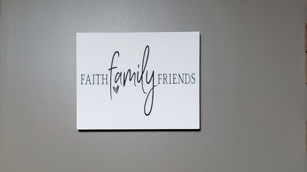 Faith Family Friends Wall Hanging