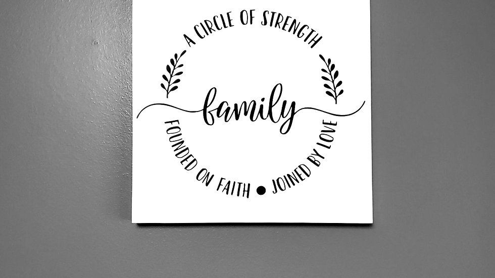 Family - A Circle of Strength Wall Hanging