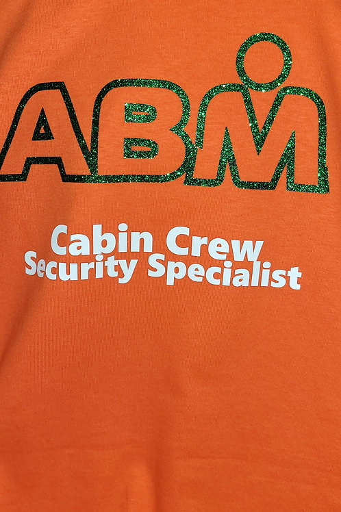 ABM Orange GLITTER  Crew Shirt