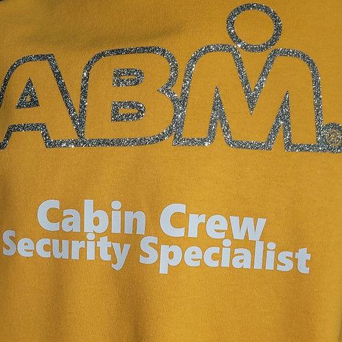 ABM Yellow GLITTER  Crew Shirt