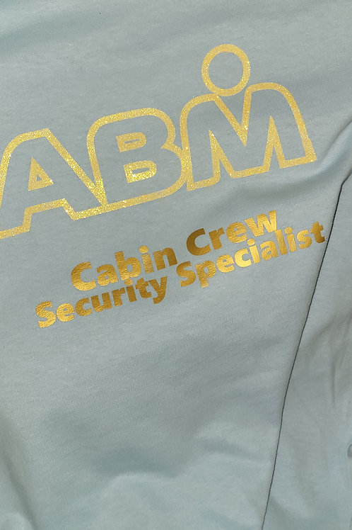 ABM Sky Blue GLITTER  Crew Shirt