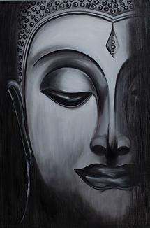 DessiArt, buddha oil paining, Dessi Parrish