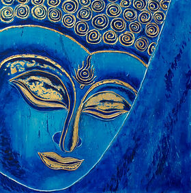 DessiArt, buddha paining, oil on canvas