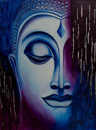 DessiArt, buddha paining, oil on canvas