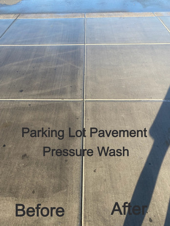 pressure wash before and after pavement_