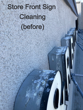 Store front pressure washing