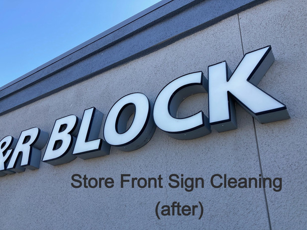 store front sign cleaning after
