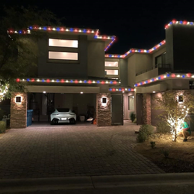 Red, white, and blue LED Lights decoration ideas.