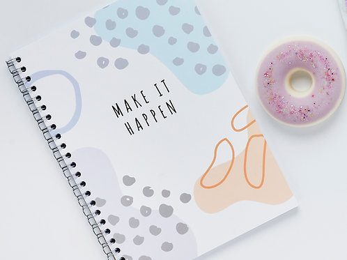Abstract Print Notebook
