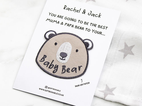 Personalised 'Baby Bear' Iron On Patch