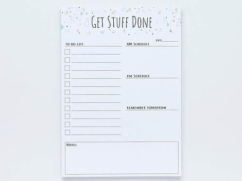 'Get Stuff Done' Daily Planner