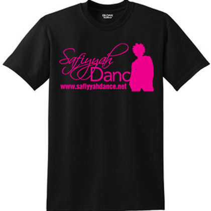 Safiyyah Dance Classic T Black - Hot Pink Ink