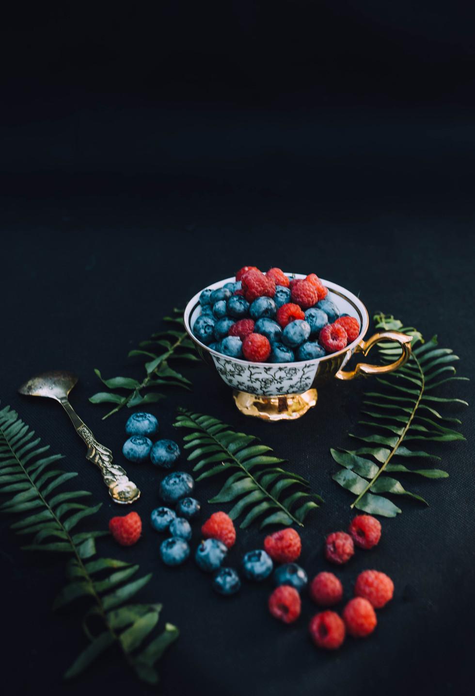 Still life photo of berries