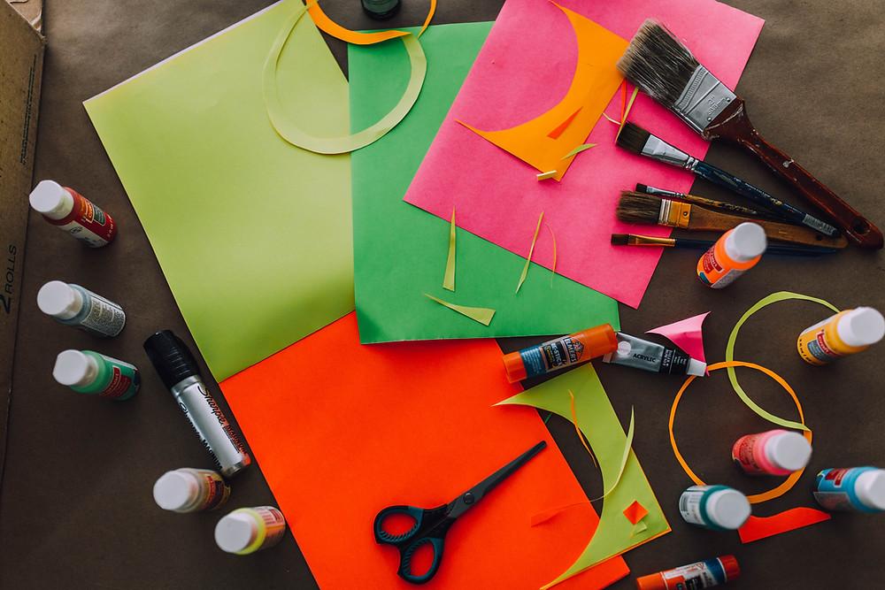 Supplies for DIY Tiki Totem Poles