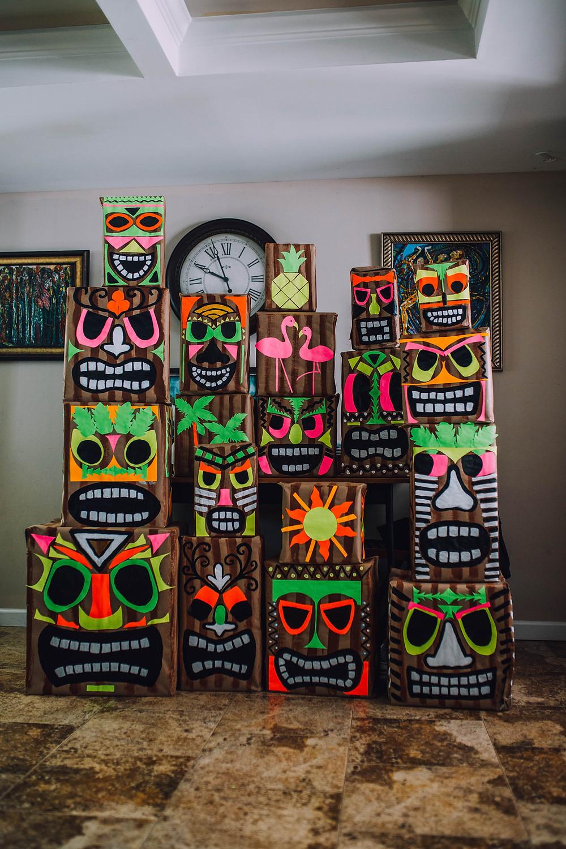 DIY Easy Tiki Decor for Luau Party
