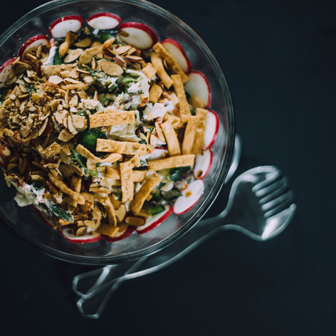 Food styling photo of a healthy salad