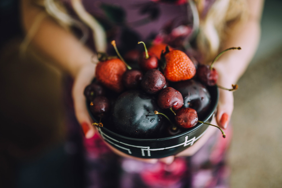 lifestyle image of fruits