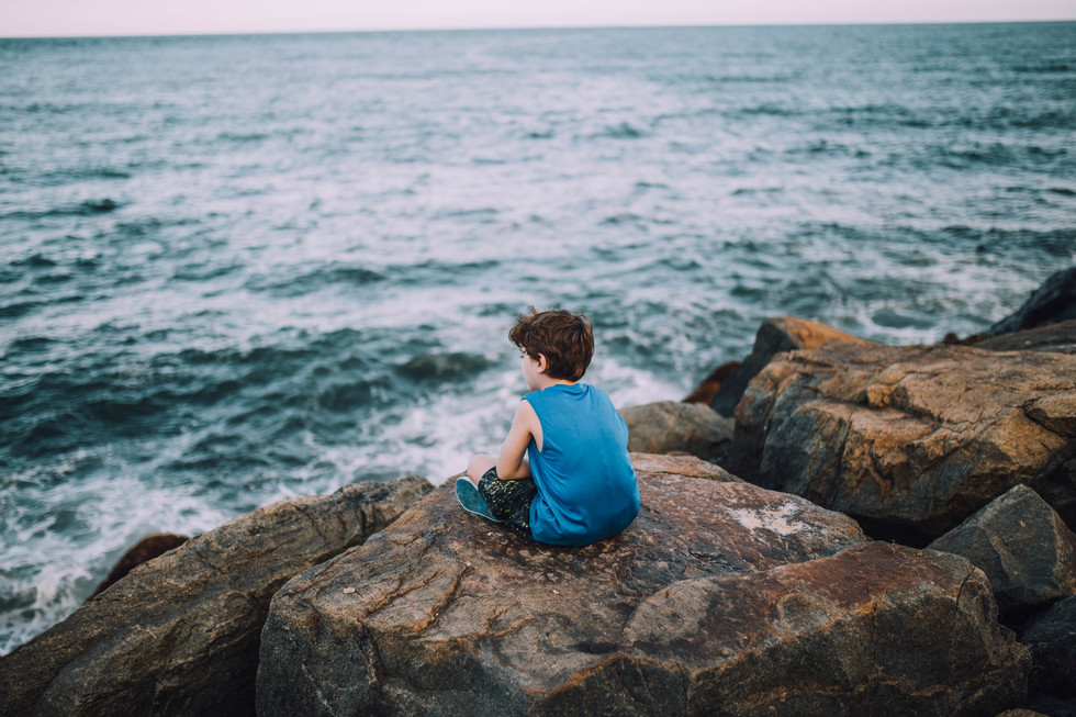 Lifestyle photo a yourng boy in Montauk, New York.