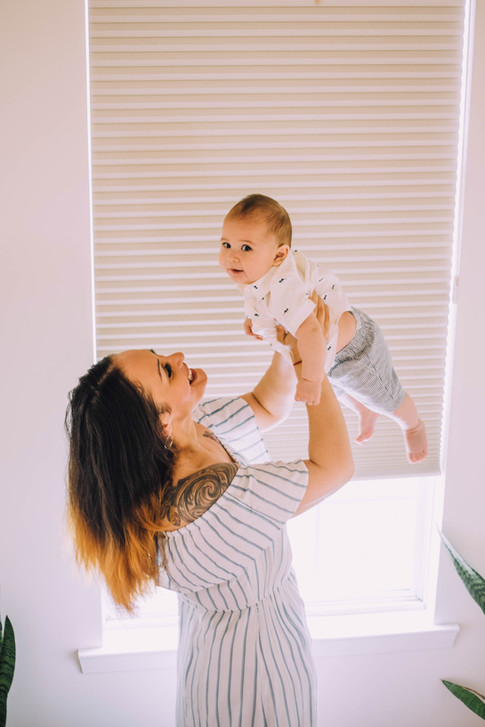 Lifestyle image of a mother and a baby