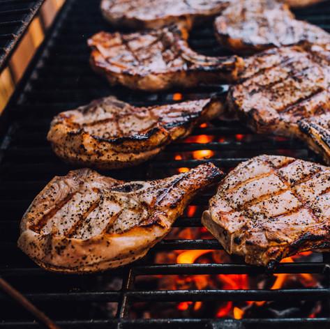 lifestyle food photo of pork chop