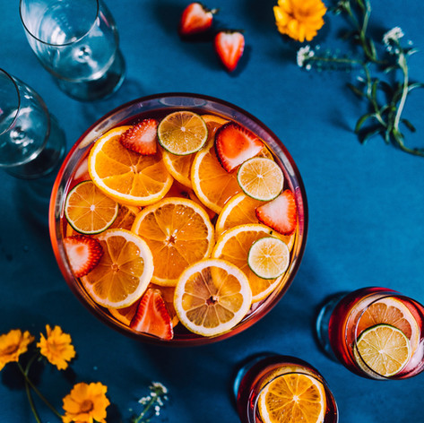 Passion fruit iced tea - refreshing drink for the hot summer nights