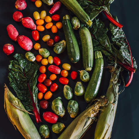 Photo of a vegetable still life
